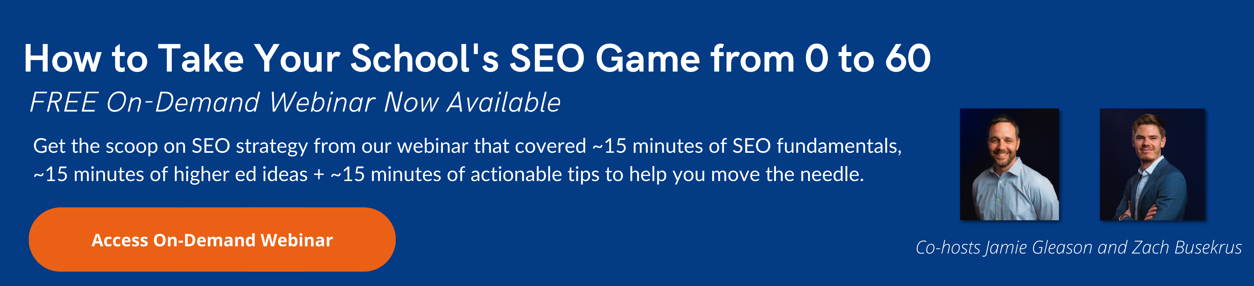 How to Take Your Schools SEO Game from 0 to 60