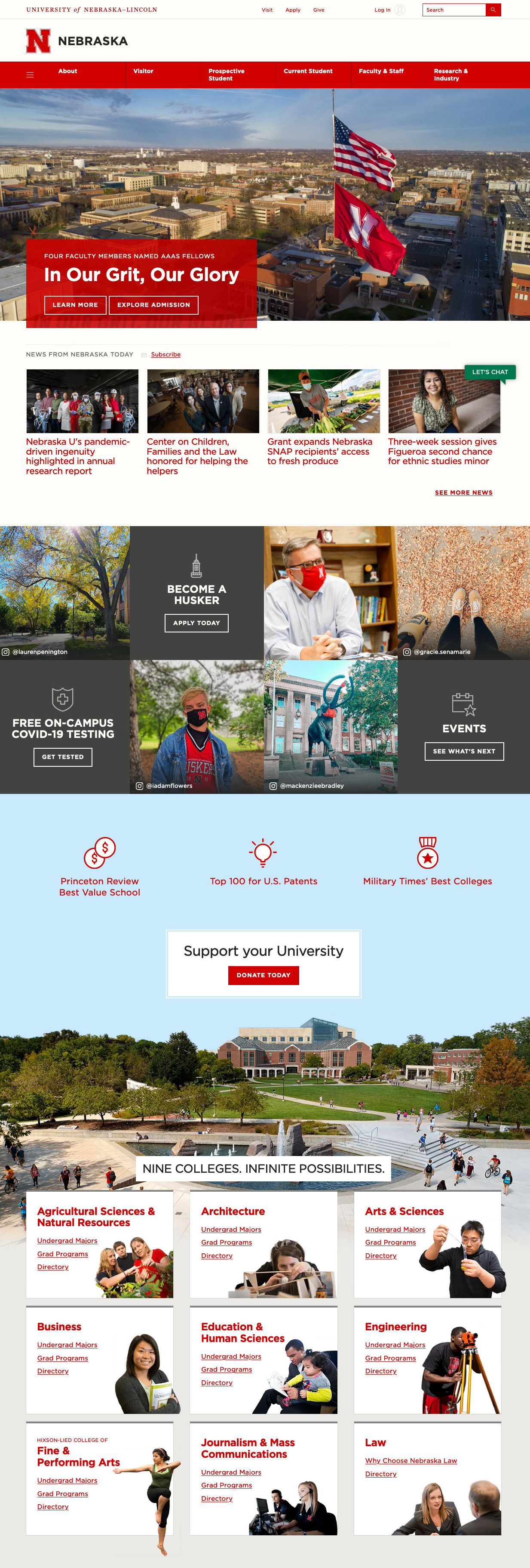 UNL Homepage